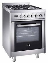 Fagor RFA 244 DF 24  Dual Fuel Range with 4 Gas Burners 7 Cooking Programs an