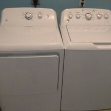 2017 GE Washer and Dryer Set   White   Models GTW460ASJWW   GTD33EASKWW