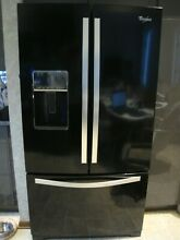 Whirlpool 36  Black Ice Refrigerator French Doors Never used