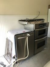 KitchenAid Oven With Microwave  5 Burner Cooktop And Dishwasher Stainless steel