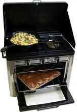 Propane Gas Stove Range Oven Grill Cooker Portable Camping Double Burner Compact