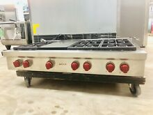 Wolf 48  Professional Series Range Top Gas Cooktop Sealed Burners SRT486g