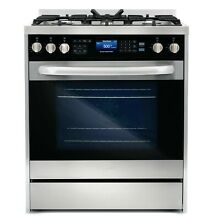 Cosmo 30 in 5 cu ft Dual Fuel Range Convection Oven 5 Burners