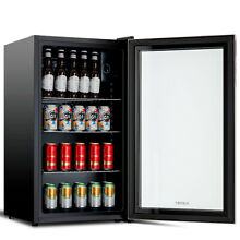 120 Can 3 1 Cu Ft  Beverage Soda Beer Bar Mini Fridge Cooler Stainless Steel