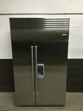 Sub Zero BI 48SD S PH   48  Side by Side Classic Refrigerator Freezer  Stainless