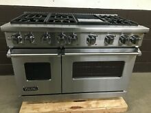 Viking VGR7486GSS   48  Range Professional All Gas 6 Burner   Griddle 7 Series