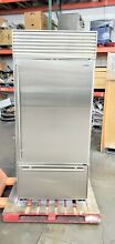 SUB ZERO 650 S 36  NO FLAW STAINLESS BOTTOM FREEZER TUBULAR HANDLES 40 off  9975