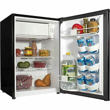 Haier 2 7 Cu Ft Single Door Compact Refrigerator  Black