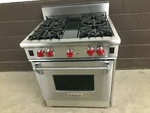 Wolf R304   30  PRO Gas Range Stove 4 Burners Stainless Steel Red Knobs