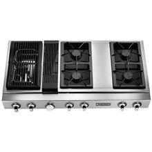 6 burner counter top range Black and stainless