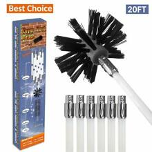 REALFLO 20ft Rotary Dryer Vent Lint Brush 10Piece Dryer Duct Cleaning System kit