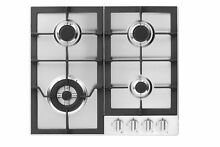 Fagor FA 640STX 4 Burner Gas Cooktop with Universal Ignition 24 Inch Stainles