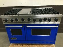 Viking 48  Professional Range VGSC486GSS Gas 6 Burners   Griddle Blue