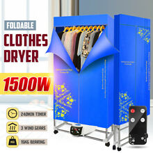 1500W Foldable Electric Clothing Dryer 110 240V Clothes Dryer Drying Heater