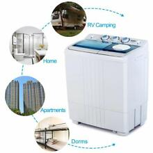 Portable Mini Washing Machine Compact Twin Tub Spin Spinner Dryer Laundry 21 LBS