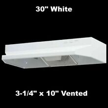 OVER STOVE RANGE HOOD 30  EXHAUST FAN Under Cabinet 3 1 4  x 10  Vented White