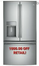 NEW GE PROFILE 27 8 cu ft French Door Stainless Refrigerator PFE28KSKSS