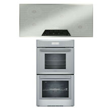 Thermador Package Of  Masterpiece Series Cooktop CIT304KM   Double Oven MED302WS