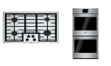 Bosch 500 Series Package Of Electric Smothtoop NGM5055UC   Double Oven HBL5651UC