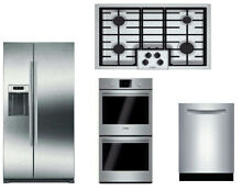 Bosch 500 Series Package Of Cooktop   Double Oven  Dishwasher   Refrigerator