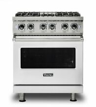 30  Dual Fuel Range w  Large Capacity Oven Natural Gas Viking VDR5304BSS