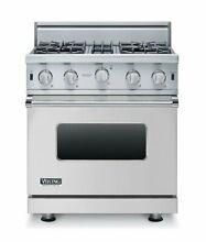 30  Open Burner Gas Range  Natural Gas Viking VGIC53014BSS