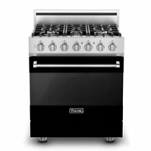 30  Self Cleaning Gas Range  Natural Gas Viking RVGR33025BBK