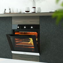 24 Electric Built In Single Wall Oven 220 V Buttons Control
