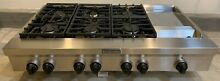 Kitchen Aid 48 inch wide Commercial Style  6 burner gas Rangetop with Griddle