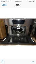 Bosch microwave oven with warming drawer