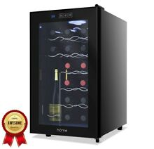 Bottle Wine Cooler Single Zone Fridge and Chiller for Red and White Wines