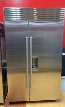 Sub Zero BI48SDS 48  Built in Side by Side Refrigerator Freezer Stainless Steel