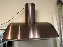 Zephyr Cheng Okeanito 36  Rose Gold Wall Mount Chimney Range Hood Showroom Unit