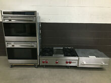 3 pc set  Wolf Range Top 36    Wolf 30  Double Oven DO30U S   Warming Drawer