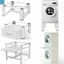 Washing Machine Pedestal Tumble Storage Dryer Stand Raiser Pull Out Shelf Base
