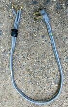 3 PRONG DRYER CORD 30amp 3 FEET LONG   Threaded clamp