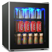 Beer Refrigerator For Bottles And Can Beverage Cooler With Glass Clear Door Mini
