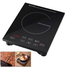 1800W Portable Induction Cooktop Magnetic Electric Adjustable Timer Auto Off