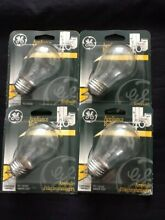 4 Pc GE   A15 40W BULBS REFRIGERATOR OVEN MICROWAVE Fridge Clear Light Bulb Four
