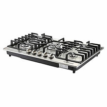 New 30  Stainless Steel 5 Burner Built in Stoves LPG NG Gas Cooktops Cooker  USA