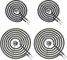 Range Stove Top Surface Element Burner Kit for GE and Hotpoint 4 Pcs