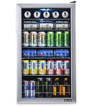 New Air 126 Can Stainless Steel Freestanding Beverage Center