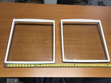 Frigidaire Parts Side By Side 36  Refrigerator 2 Used Fixed Glass Shelf 16 x18