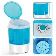 Mini Washing Machine Dryer Semi Automatic Spinner Washer Portable Laundry Blue