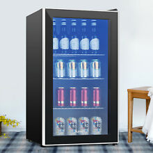 120 Can 3 1 Cu Ft  Mini Fridge Cooler Beverage Soda Beer Bar Stainless Steel