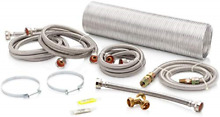 Superior Brands Washer and Gas Steam Dryer Laundry Install Kit with Gas Hose  Y