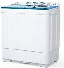 26 LBS Washing Machine w  Drain Pump Twin Tub Spiner Dryer Compact Laundry