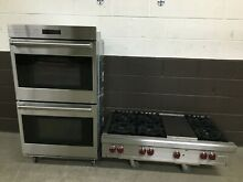 2 pc set  Wolf Range Top 48  RT486G and Wolf 30  Double Wall Oven DO30PE S PH