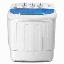 Portable Compact Washing Machine 13 4lbs Twin Tub Laundry Washer Spin Dryer