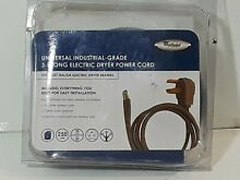 Whirlpool Universal Industrial grade 3 Prong electric Dryer Power cord